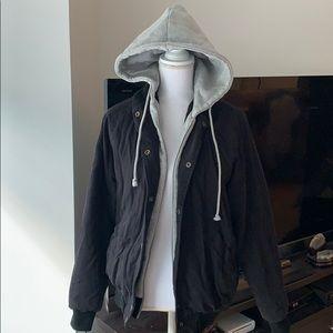 Brandy Melville mix match hoodie parka